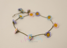 Daisy Multi Colour Flower Hair Garland